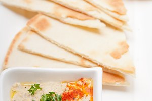 Baba Ghanoush eggplant dip and pita bread 32.jpg