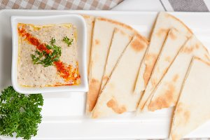 Baba Ghanoush eggplant dip and pita bread 33.jpg