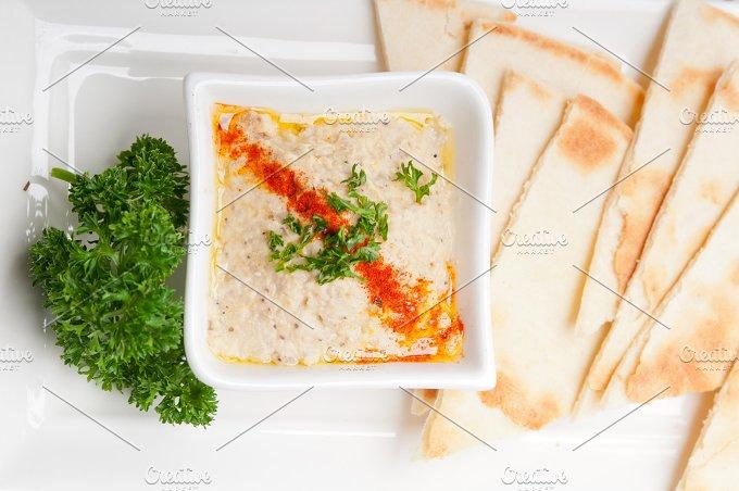 Baba Ghanoush eggplant dip and pita bread 34.jpg - Food & Drink