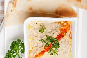 Baba Ghanoush eggplant dip and pita bread 35.jpg