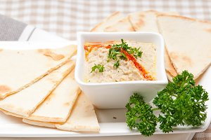 Baba Ghanoush eggplant dip and pita bread 38.jpg