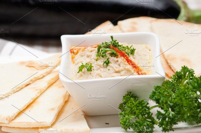Baba Ghanoush eggplant dip and pita bread 39.jpg - Food & Drink