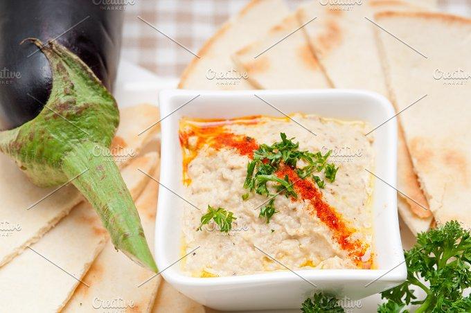 Baba Ghanoush eggplant dip and pita bread 41.jpg - Food & Drink