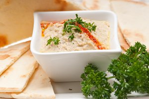Baba Ghanoush eggplant dip and pita bread 43.jpg