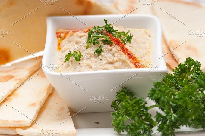 Baba Ghanoush eggplant dip and pita bread 43.jpg - Food & Drink