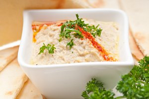 Baba Ghanoush eggplant dip and pita bread 42.jpg