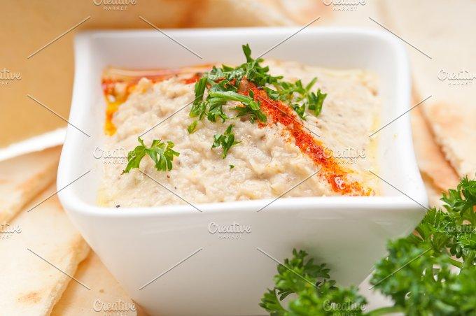 Baba Ghanoush eggplant dip and pita bread 42.jpg - Food & Drink