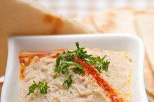 Baba Ghanoush eggplant dip and pita bread 44.jpg