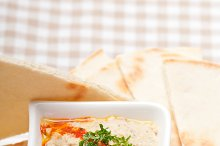 Baba Ghanoush eggplant dip and pita bread 45.jpg