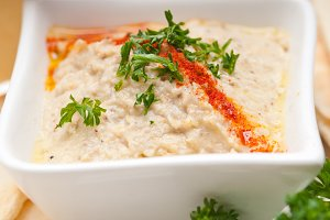 Baba Ghanoush eggplant dip and pita bread 48.jpg