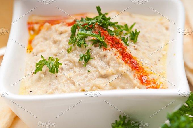 Baba Ghanoush eggplant dip and pita bread 48.jpg - Food & Drink