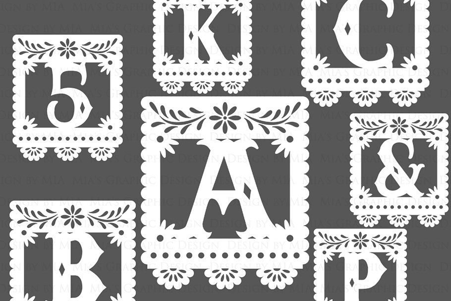 White Alphabet & Numbers