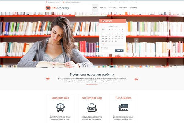 WordPress Non-Profit Themes - Hot Academy