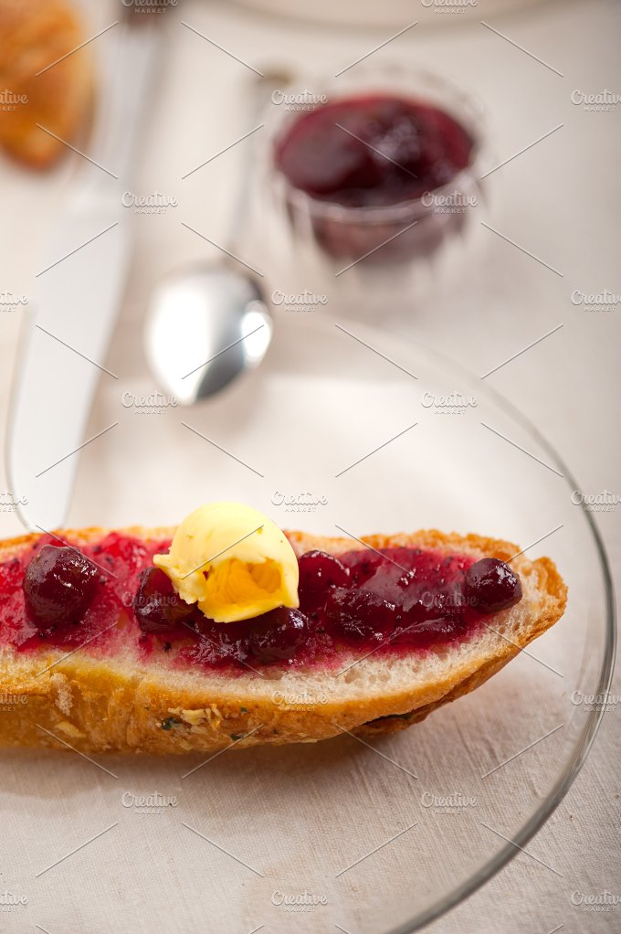 breakfast bread butter and jam 34.jpg - Food & Drink