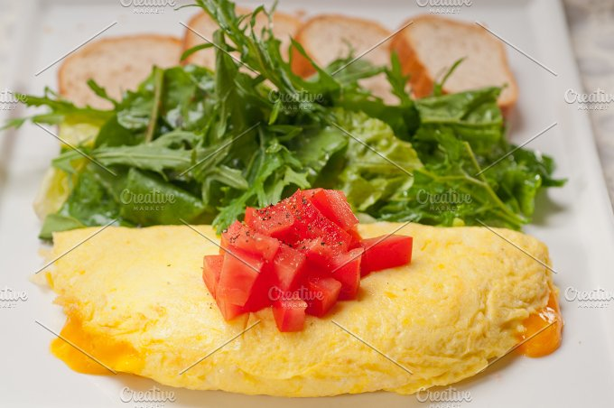 cheese omelette and salad 05.jpg - Food & Drink