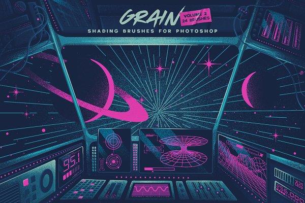Grain Volume II Photoshop Brushes