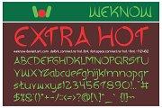 Extra Hot Font
