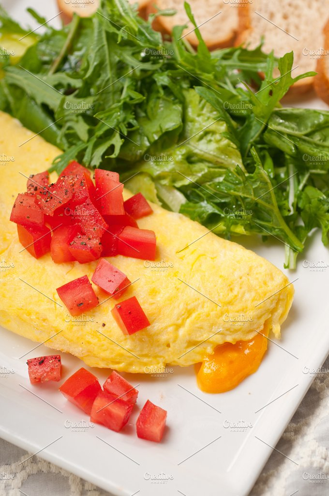 cheese omelette and salad 11.jpg - Food & Drink