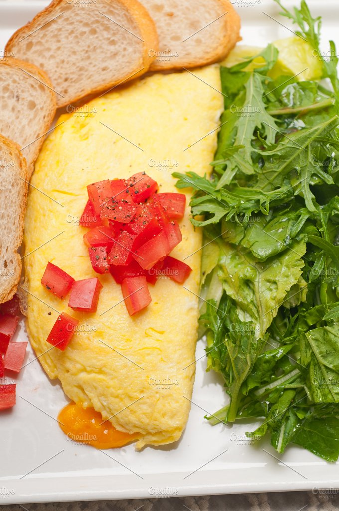 cheese omelette and salad 18.jpg - Food & Drink