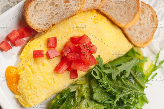 cheese omelette and salad 28.jpg - Food & Drink