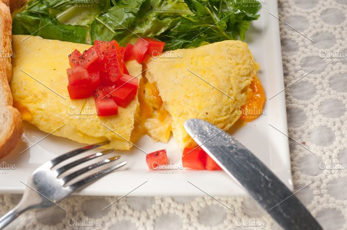cheese omelette and salad 30.jpg - Food & Drink