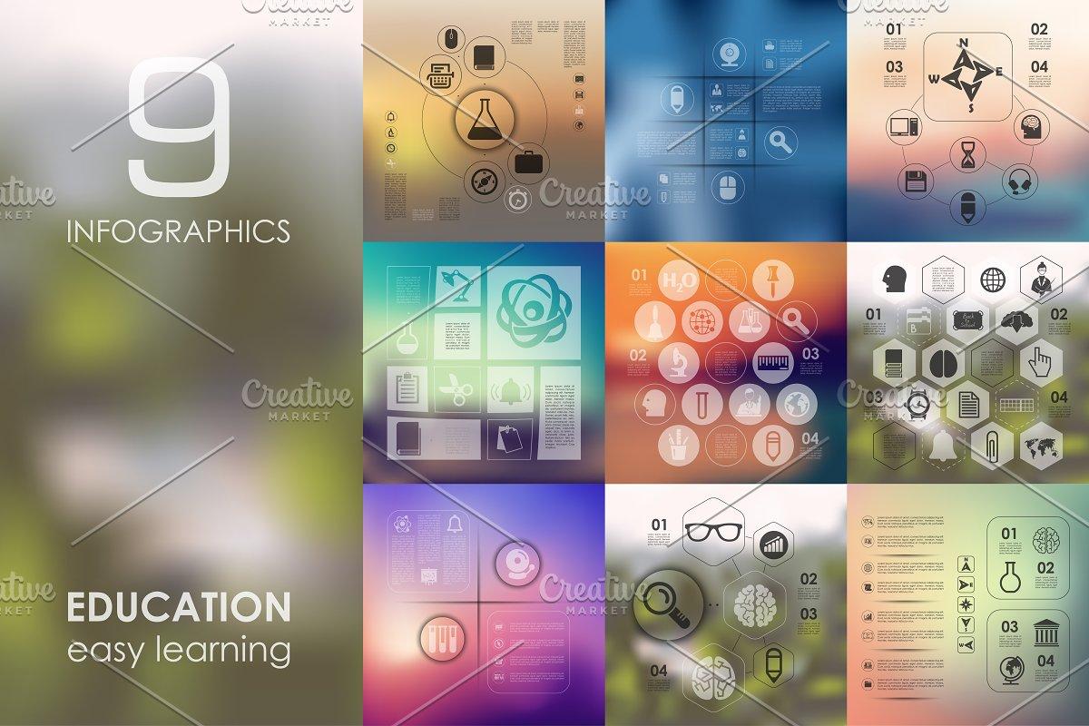 9 education infographics