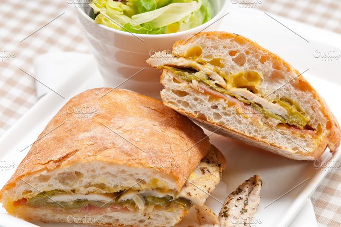 chicken roasted pepper aioli ciabatta sandwich 02.jpg - Food & Drink