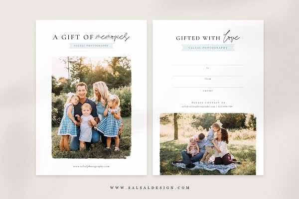 Photographer Gift Certificates GC019