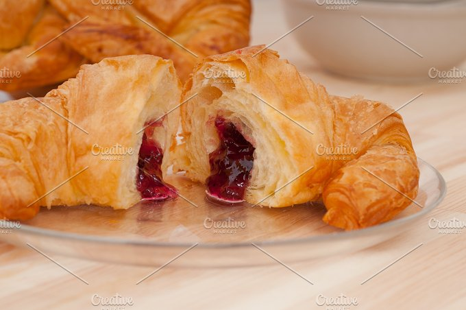 croissant french brioche filled with berries jam 02.jpg - Food & Drink