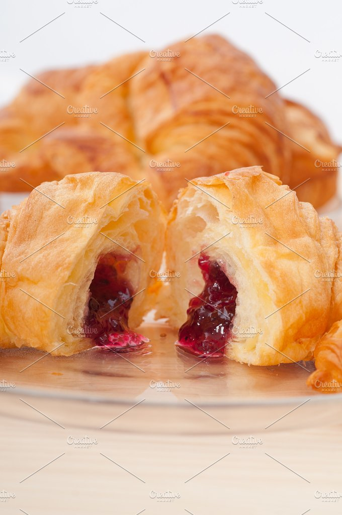 croissant french brioche filled with berries jam 07.jpg - Food & Drink