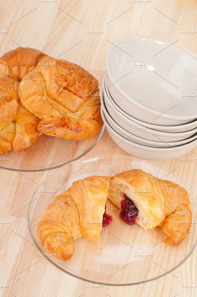 croissant french brioche filled with berries jam 10.jpg - Food & Drink