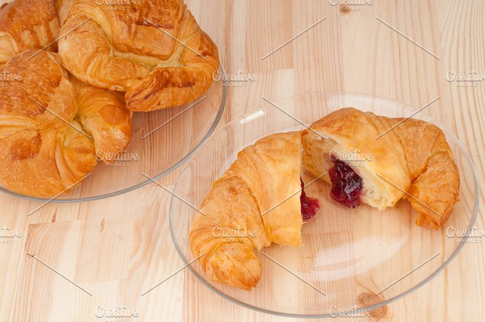 croissant french brioche filled with berries jam 09.jpg - Food & Drink