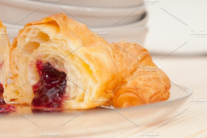 croissant french brioche filled with berries jam 12.jpg - Food & Drink