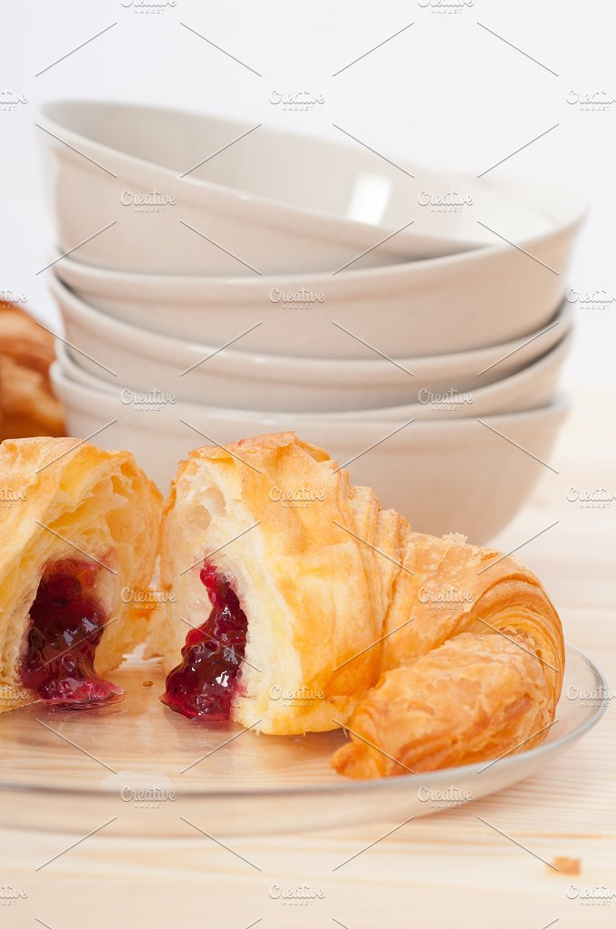 croissant french brioche filled with berries jam 13.jpg - Food & Drink
