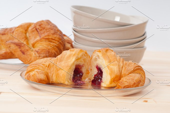 croissant french brioche filled with berries jam 14.jpg - Food & Drink