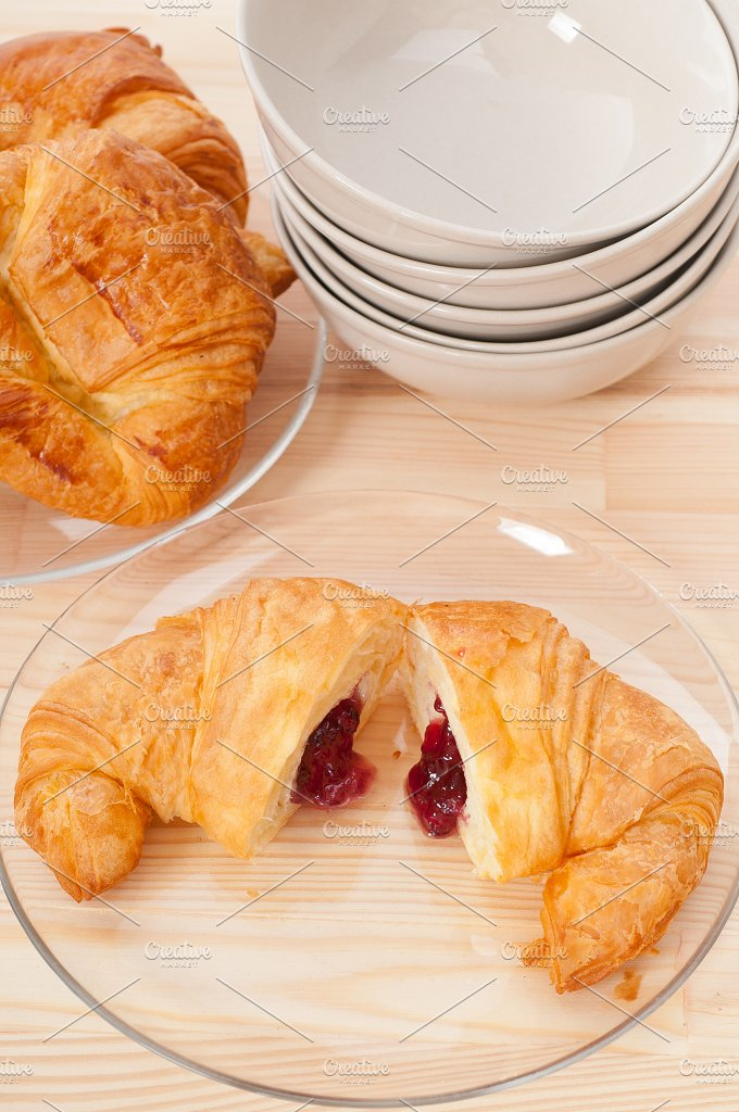 croissant french brioche filled with berries jam 15.jpg - Food & Drink
