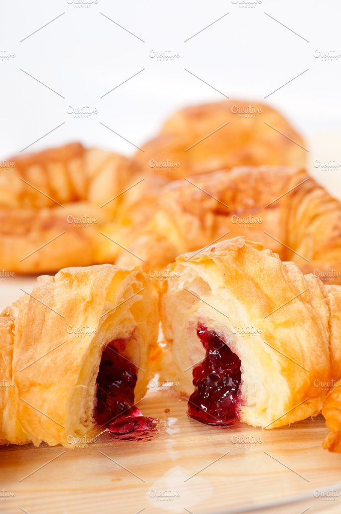 croissant french brioche filled with berries jam 20.jpg - Food & Drink