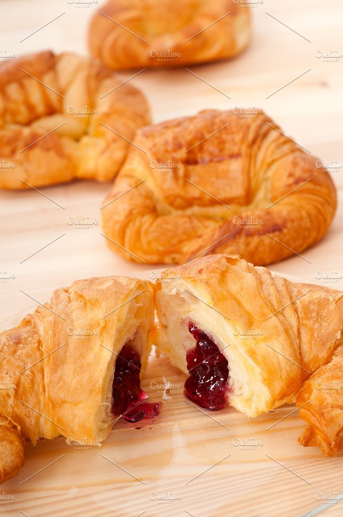 croissant french brioche filled with berries jam 21.jpg - Food & Drink