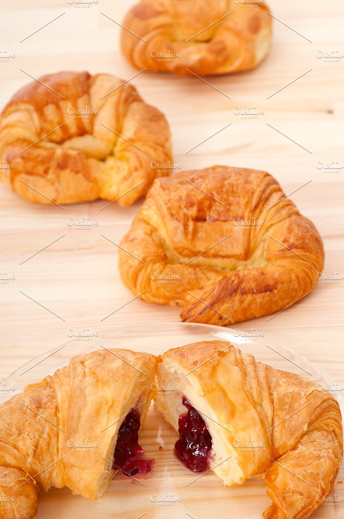 croissant french brioche filled with berries jam 22.jpg - Food & Drink