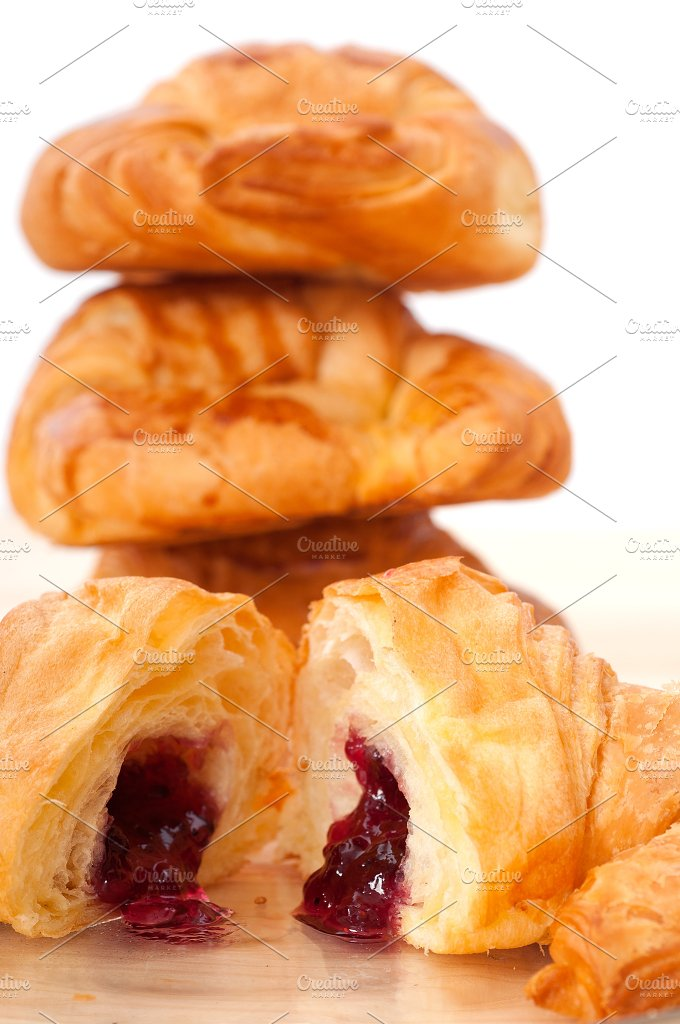 croissant french brioche filled with berries jam 24.jpg - Food & Drink