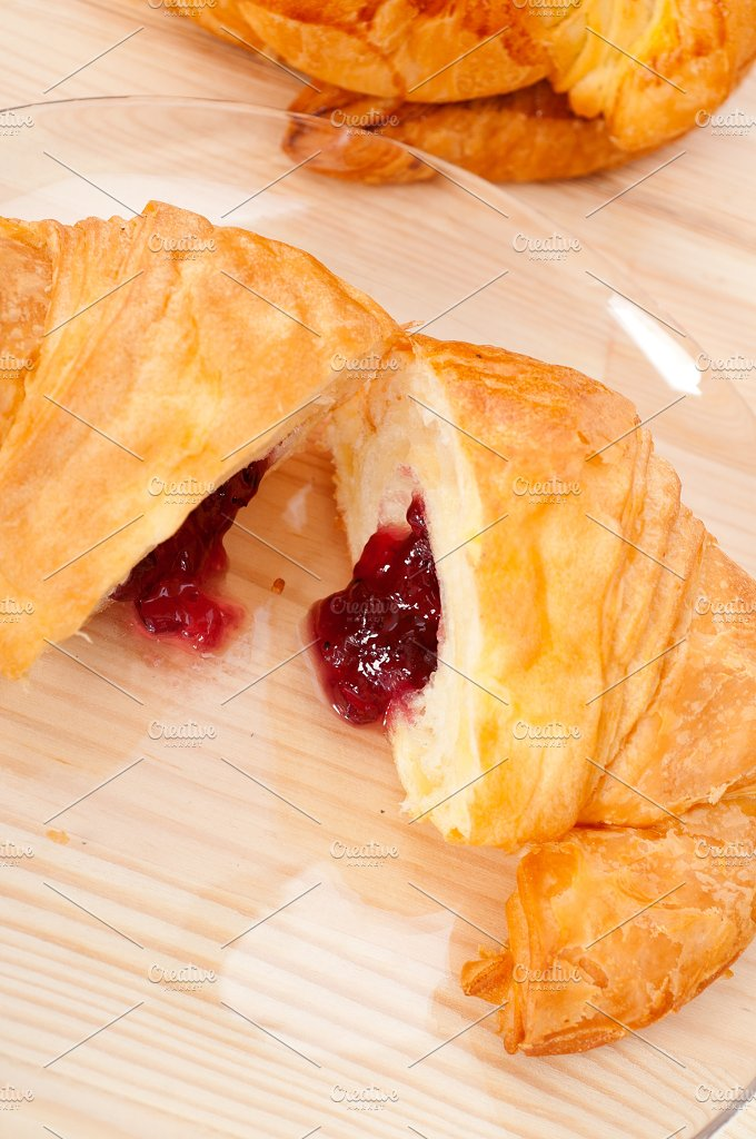 croissant french brioche filled with berries jam 27.jpg - Food & Drink