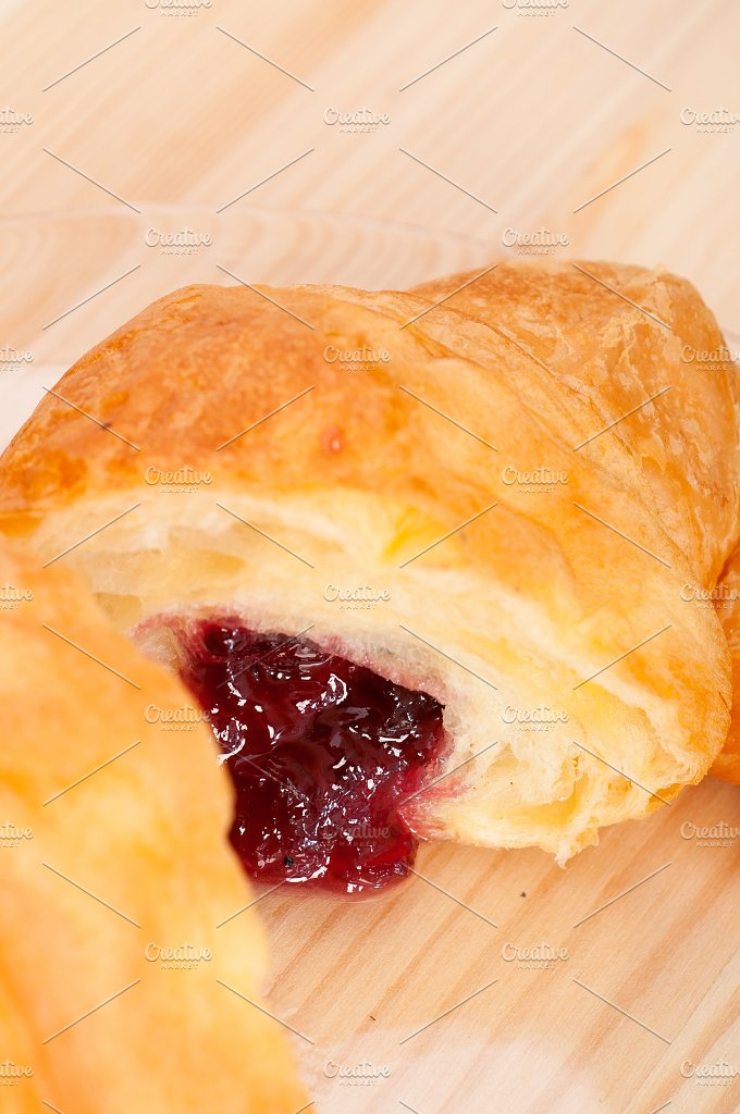 croissant french brioche filled with berries jam 28.jpg - Food & Drink