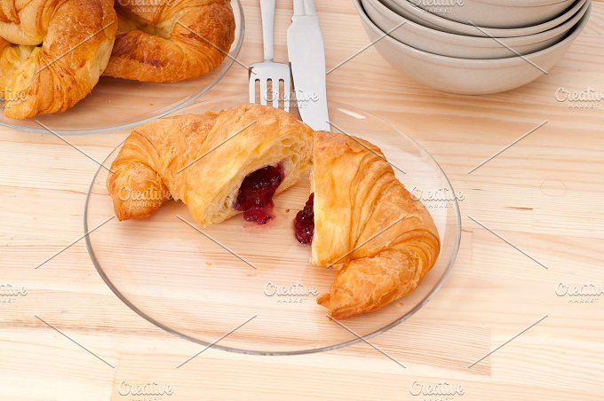 croissant french brioche filled with berries jam 30.jpg - Food & Drink