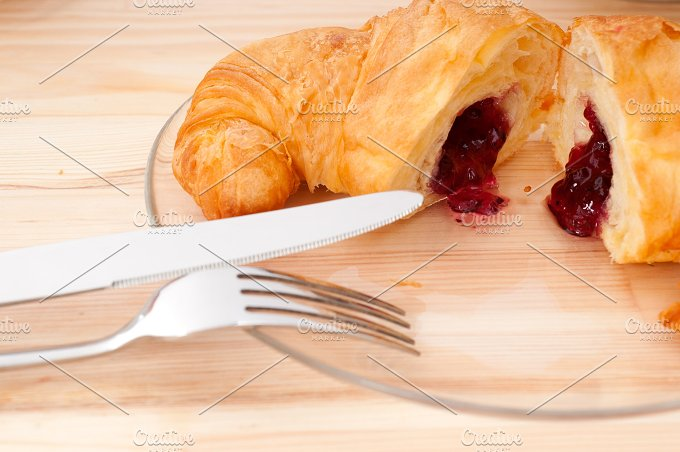 croissant french brioche filled with berries jam 31.jpg - Food & Drink