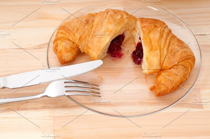 croissant french brioche filled with berries jam 32.jpg - Food & Drink