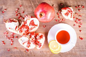 Pomegranate and hibiscus drink.