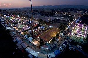 Funfair aerial view