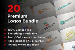 20 Premium Logos Bundle