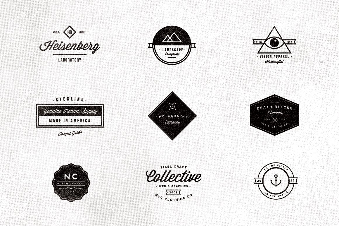 9 Vintage Typographic Logos Logo Templates Creative Market