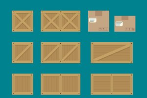 Cargo Boxes Icon Vector